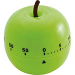 "Baumgarten's Shaped Timer, 4 1/2"" Diameter, Green Apple"