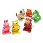 Baumgarten's Wind-up Flipping Animal Toy, Assorted Animals