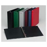 "Avery Economy Round Ring Reference Binder, 3"" Capacity, Red"