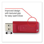 Verbatim Store 'n' Go USB 2.0 Flash Drive, 64GB, Red