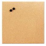 "The Board Dudes Canvas Magnetic Cork Board, 17"" x 17"", Unframed"