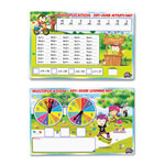 The Board Dudes SpinnerZ Dry Erase Learning Mat, Multiplication