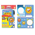 SmartDudes™ Write On/Wipe Off Flash Cards, Telling Time, K and Up, 9/Pk