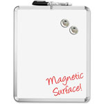 "The Board Dudes Magnetic Dry-Erase Board, 1 Marker/2 Magnets, 11"" x 14"", White"