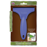 The Board Dudes Squeege Eraser, f/Chalk, Dry-Erase Boards, Blue