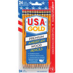 The Board Dudes USA Gold Series #2 Pencils, Cedar, Yellow, 24/Pack