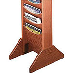 Buddy Single Wood Base Display Rack, Medium Oak