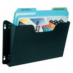 Buddy Add On Pocket Recycled Steel Wall File, Letter Size, Black