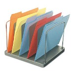 Buddy Five Pocket Vertical Desk Tray, Plastic/Steel/Wire, 11 1/8 x 10 5/8 x 8 3/8, CCL