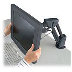 Kensington® Flat Panel Desk Mount Monitor Arm - Mounting Kit (Articulating Arm, Desk Clamp Mount) For Flat Panel