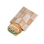 Durable Packaging International Grease Resistant Sandwich Bag Artisan, 4.25 x 2.75 x 16.5