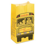 Bagcraft Sos Bakery Bag Dubl Wax, 13lb, Black, Red, Yellow, 500/carton