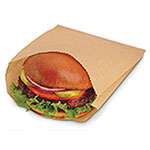 Durable Packaging International Grease Resistant Sandwich Bag NK18 Natural