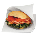 "Bagcraft Open-Side Grease Resistant Sandwich Bags, 6""x3/4""x6 1/2"", White"