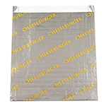 "Bagcraft Foil/Paper/Honeycomb Insuldated Bag ""Cheeseburger"", 6"" x 6 1/2"", Gray, Yellow"