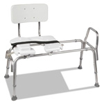 "DMI Furniture Heavy-Duty Sliding Transfer Bench with Cut-Out Seat, 19-23""H, 15 x 19 Seat"