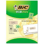 Bic Mailing Labels, 1 x 2 5/8, Natural Tan, 3600/Box