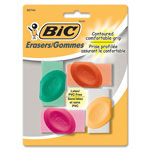 Bic Countoured Comfortable Grip Erasers, Assorted