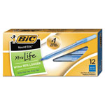 Bic Round Stic® Ballpoint Pen, Medium Point, 1.0mm, Blue Ink, Dozen