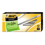 Bic Round Stic® Ballpoint Pen, Medium Point, 1.0mm, Black Ink, Dozen