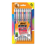 Bic Mechanical Pencils with Colorful Barrels, 0.7 mm, Assorted, 24/Pk