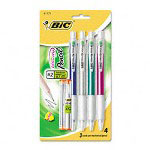 Bic Mechanical Pencil, 0.70 mm, Navy Blue Barrel, 4/pack