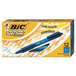 Benchmark Graphics Soft Feel Retractable Pen, Fine Point, Blue Ink