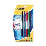 Bic Atlantis Retractable Ball Pen, Four-Color Pack, Medium Point, Assorted Colors