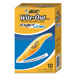 "Bic Wite-Out Brand Exact Liner Correction Tape, Non-Refillable, 1/5"" x 236"", 10/BX"