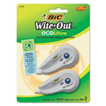 "Bic Wite Out® Mini Correction Tape, White, 1/5"" x 19.8ft."
