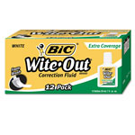 Bic Extra Coverage Correction Fluid, .7 Oz. Bottle, White