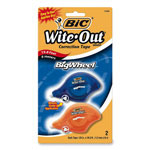"Bic Correction Tape, Molded Grip, Single Line, 1/5""x19.8'"