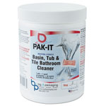 Pak-it Basin, Tub and Tile Cleaner, Ocean Scent, 4 oz Packets, 20/Jar