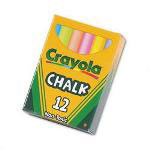 Binney and Smith Nontoxic Chalk, Assorted Colors, 12 Sticks per Box