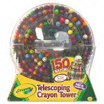 Binney and Smith 150 Count Telescoping Crayon Tower, Storage Case, Sharpener