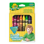Binney and Smith Beginnings Washable Triangular Wax Crayons