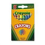 Binney and Smith Classic Color Pack Nontoxic Crayons, 8 Colors