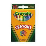 Binney and Smith Classic Color Pack Nontoxic Crayons, 16 Colors