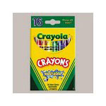 Binney and Smith Kid's First Larger Size Washable Crayons, 8 Color/Pack