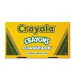 Binney and Smith Classpack Crayons, Large Size, 50 Each of 8 Assorted Colors, Pack of 400