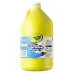 Binney and Smith Crayola Washable Paint, Yellow, 1 gal