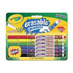 Binney and Smith Erasable Art Markers, 6 Assorted Classic Color Markers
