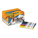 Binney and Smith Fabric Markers Classpack, Assorted Colors
