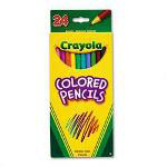 Binney and Smith Presharpened Long Colored Pencils, Thick 3.3mm Lead, 24 Color Set