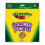 Crayola® Presharpened Long Colored Pencils, Thick 3.3mm Lead, 50 Color Set