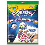 Binney and Smith Color Explosion™ White Markers, Twisted Tropicals