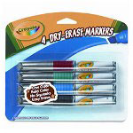 Binney and Smith Dry Erase Markers, Assorted Colors