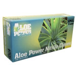 Atlantic Safety Aloe Power Aloe Infused Nitrile Gloves, Medium