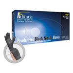 Atlantic Safety Market Edition Black Powder Free Nitrile Gloves, Medium