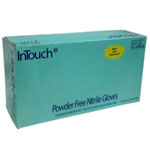 Atlantic Safety InTouch Blue Nitrile Gloves, Large